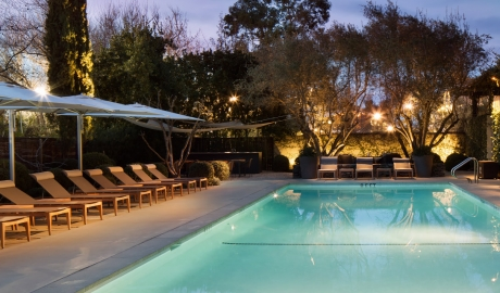 Hotel Healdsburg Pool Lounge Sundown M 01