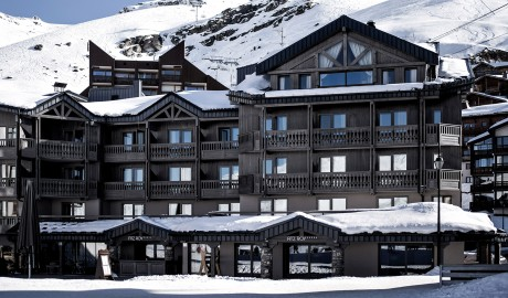 Hotel Le Fitz Roy Exterior Winter in Val Thorens