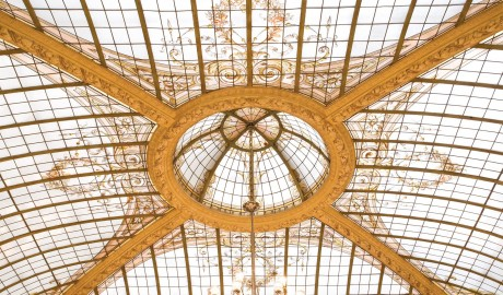 Hotel Vernet Glass Ceiling in Paris