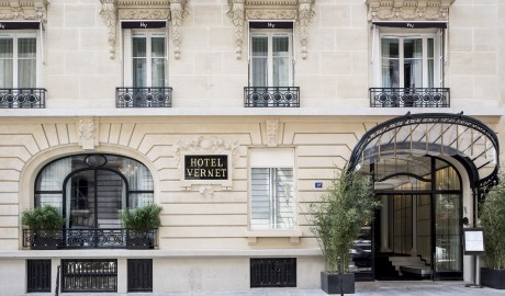 Hotel Vernet Champs Elysees Entrance in Paris