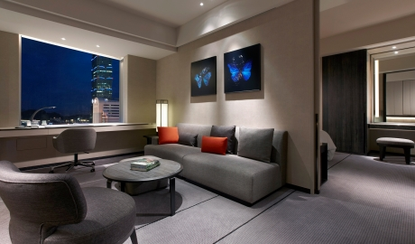 Humble House Room Sofa Desk With City View By Night M 11 R