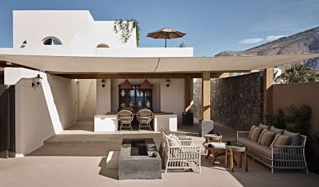 Istoria Exterior Terrace Design Furniture in Santorini, Greece - Design Hotels