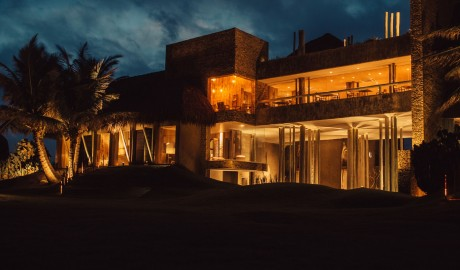 Kenoa Beach Resort Architecture by Night in Barra De Sao Miguel