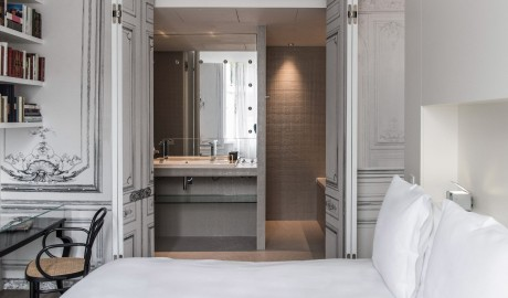 La Maison Champs Elysees Bathroom View in Paris
