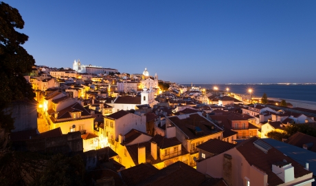 Memmo Alfama Night View in Lisbon