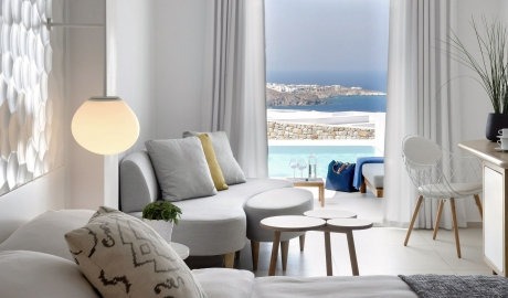 Myconian Kyma Interior in Mykonos
