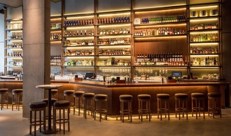 Nobu Hotel Shoreditch Bar Interior in London