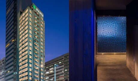 Ovolo Southside Facade by Night in Hong Kong