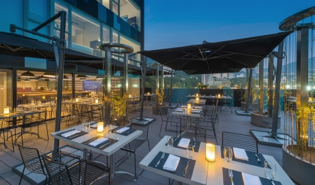 Ovolo Southside Restaurant Rooftop Terrace City View Sundown M 05 R