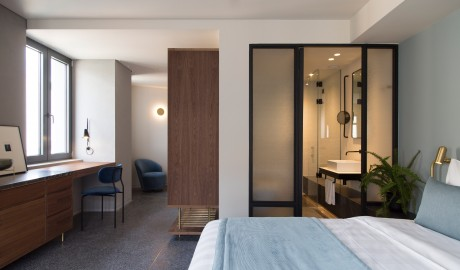 Perianth Hotel Guestroom Bath in Athens