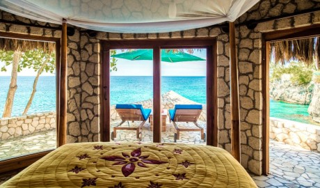Rockhouse Hotel Bedroom View on Jamaica