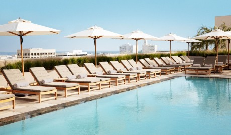 Santa Monica Proper Hotel Rooftop Pool in Los Angeles