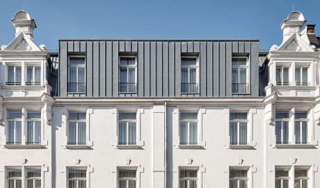 The Pure hotel exterior design details in Frankfurt