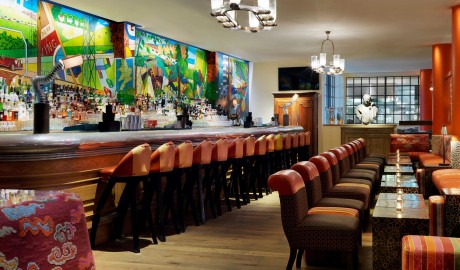 The Soho Hotel Bar Interior Design in London