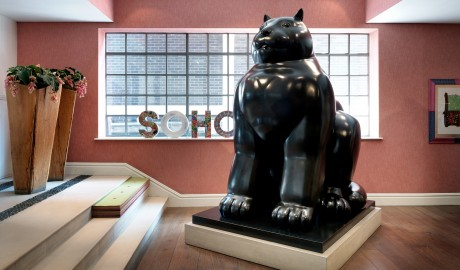 The Soho Hotel Cat Sculpture in London