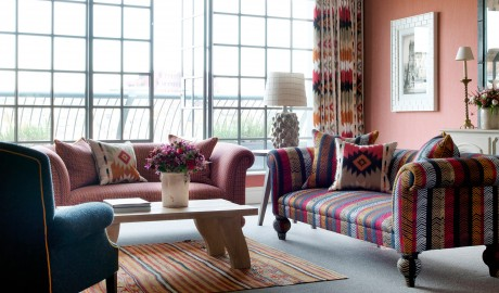 The Soho Hotel Sofas in London