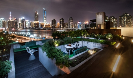 The Waterhouse At South Bund Rooftop Terrace City View By Night M 05 R