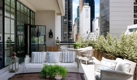 The Whitby Hotel Guestroom Terrace View in New York City