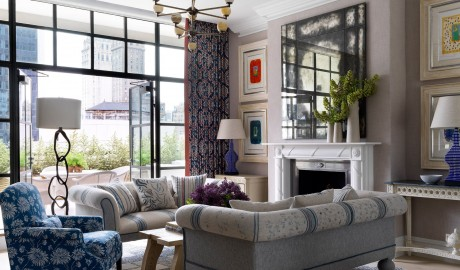 The Whitby Hotel Living Room Interior Design in New York City