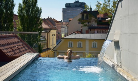 Vander Urbani Resort Pool in Ljubljana