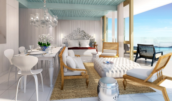 The Beach Samui - Bedroom Interior Design Ocean View