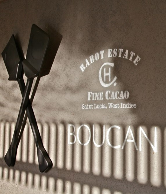 building wall brand Boucan by Hotel Chocolat