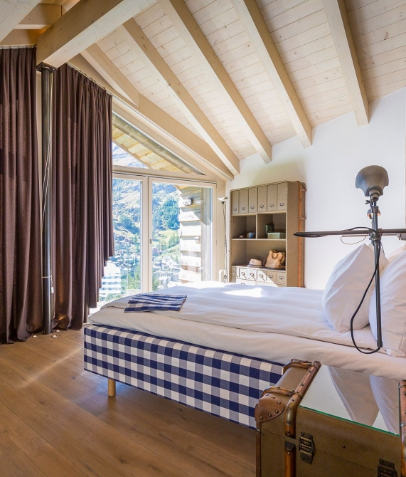 Cervo Mountain Boutique Resort Bedroom in Zermatt