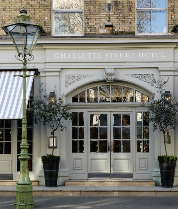 Charlotte Street Hotel Facade in London