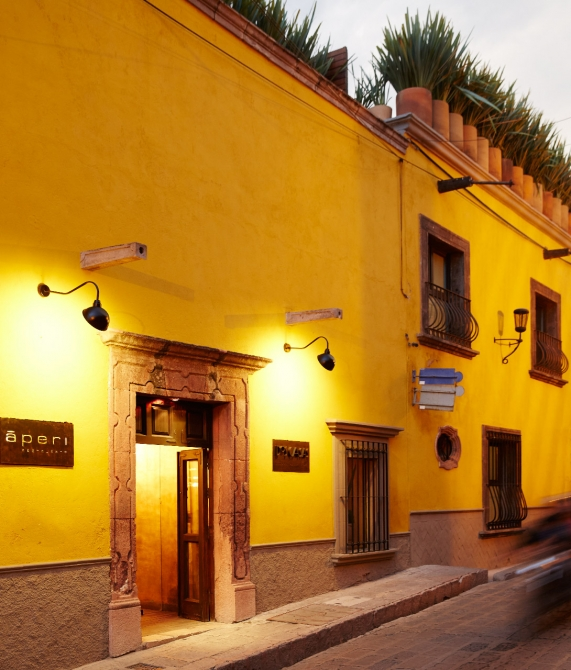 Dos Casas Hotel and Spa Facade in San Miguel de Allende