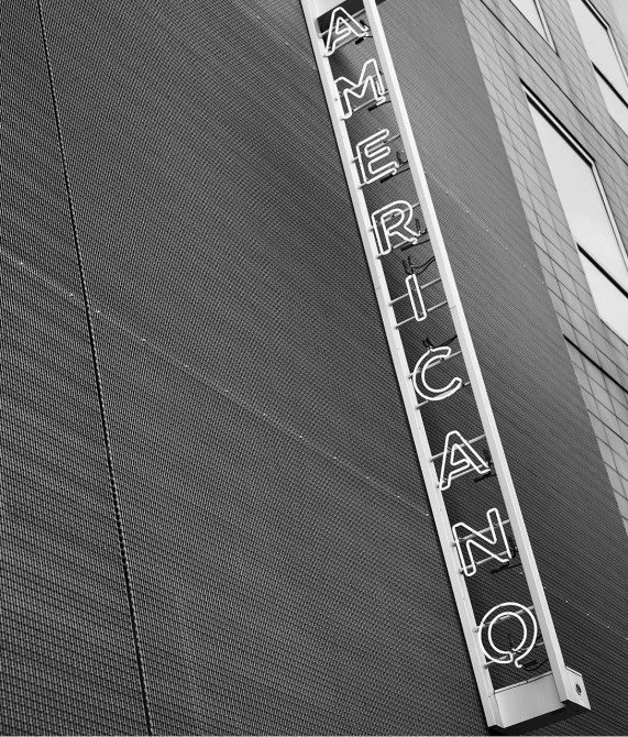 Hotel Americano Sign in New York City