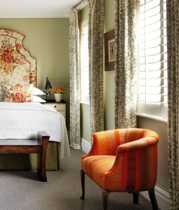 Knightsbridge Hotel Orange Armchair in London