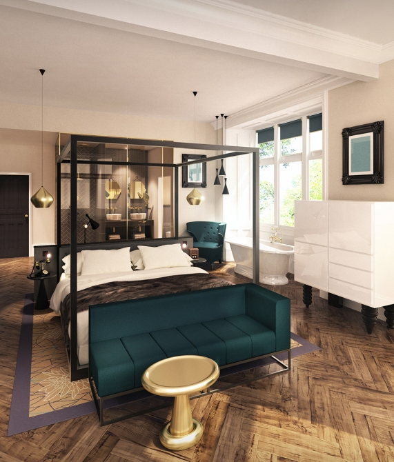 Oddfellows On The Park Bedroom Interior Design in Cheadle