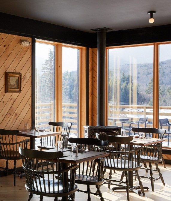 Scribners Catskill Lodge Restaurant Interior in Hunter Mountain