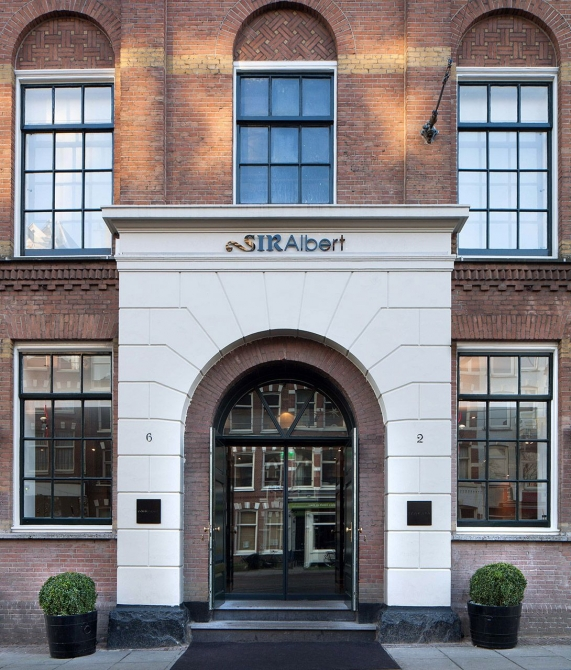 Sir Albert Hotel Entrance in Amsterdam