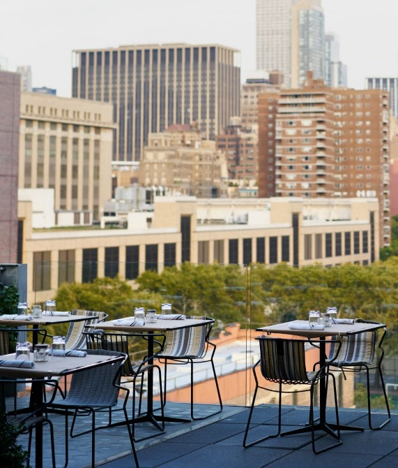 Hotel Americano Terrace View in New York City