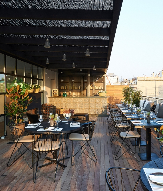 The serras barcelona spain design hotels for Terrace bar menu