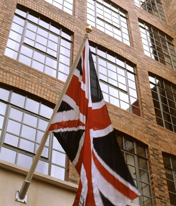 The Soho Hotel British Flag in London