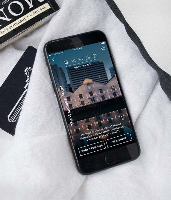 Porter and Sail app - The Warehouse Hotel
