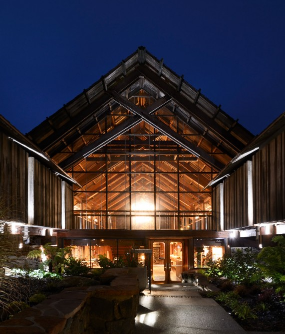 Timber Cove Exterior Entrance in Jenner, Sonoma County