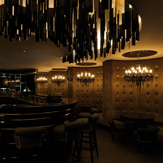lobby chandelier dark concept luxury