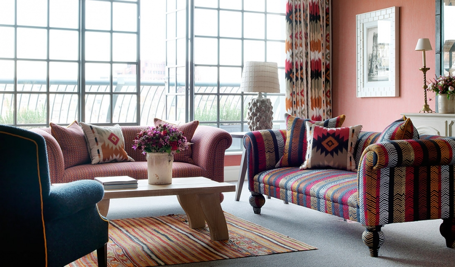 The soho hotel london uk design hotels for Interior design sofas living room