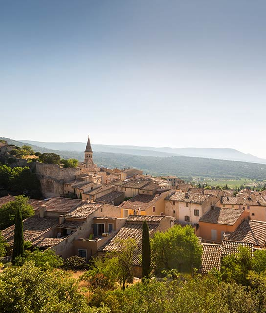 Saint Saturnin les Apt village in France