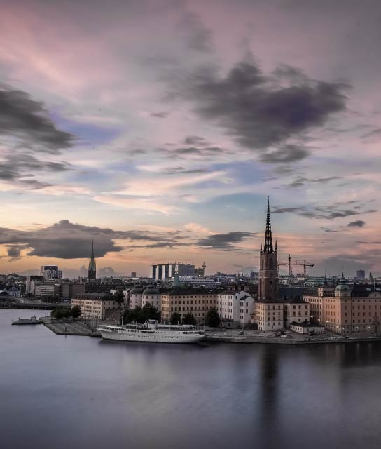 Stockholm Sunset in Sweden
